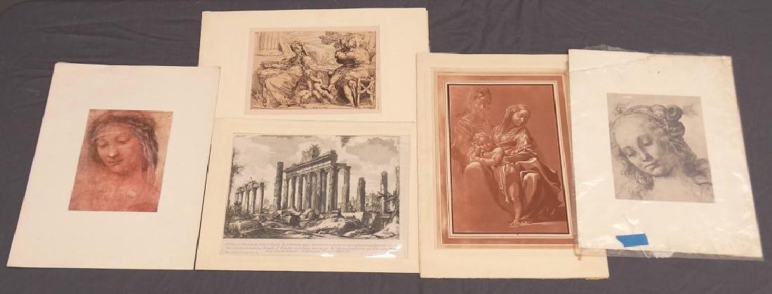 Artwork Lot Including Piranesi Etching