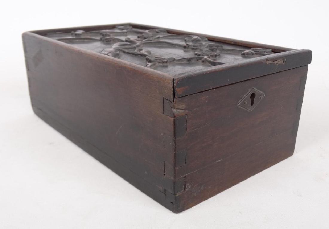 19th c. Slide Lid Candle Box - 3
