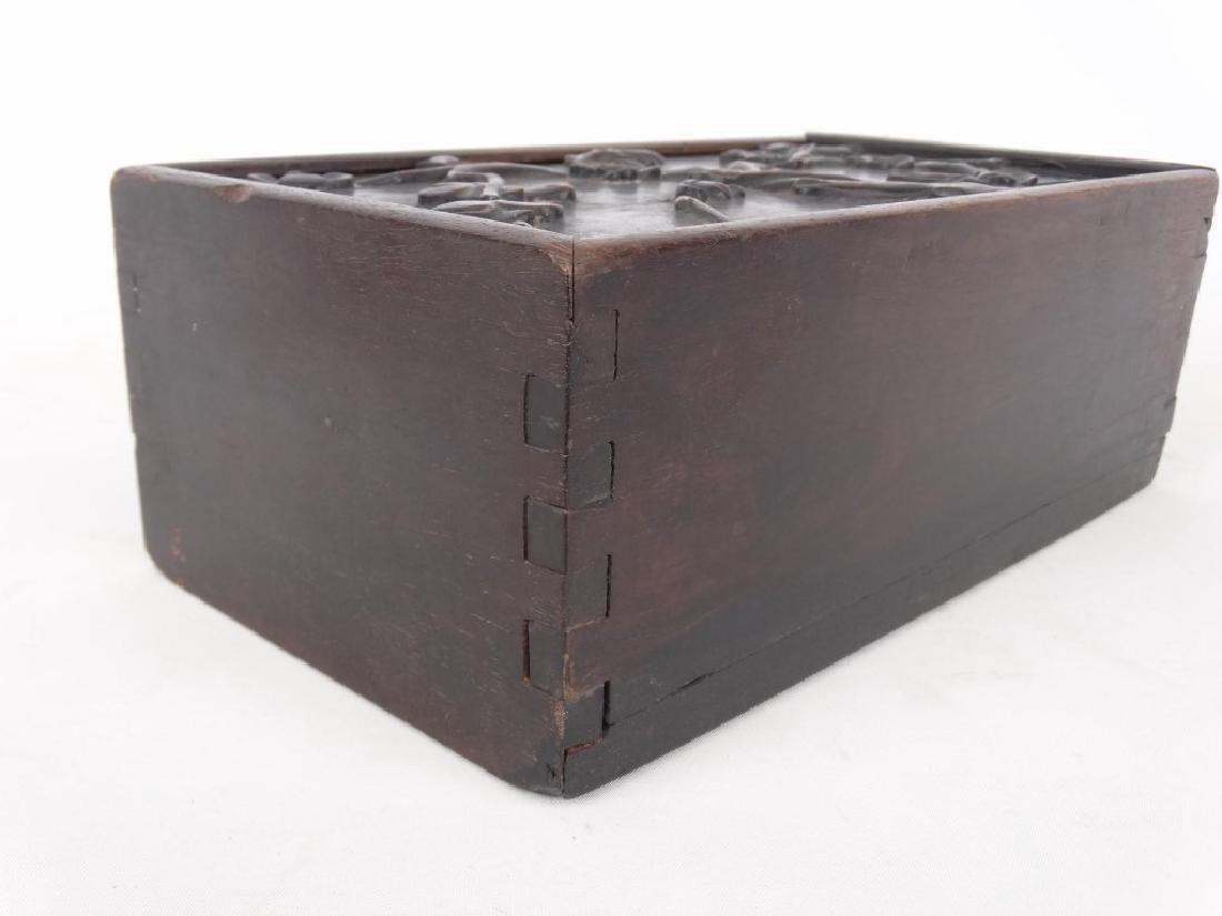 19th c. Slide Lid Candle Box - 4