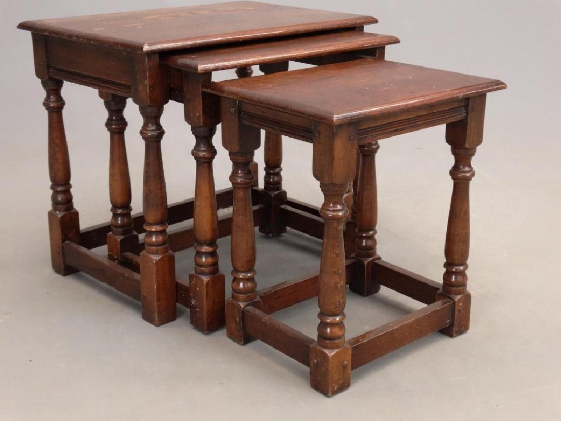 Jacobean Style Nesting Tables - 3