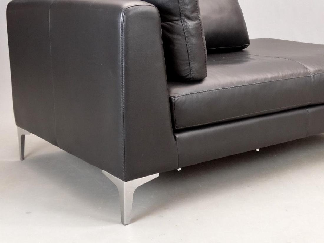 Modern Leather Sofa - 3