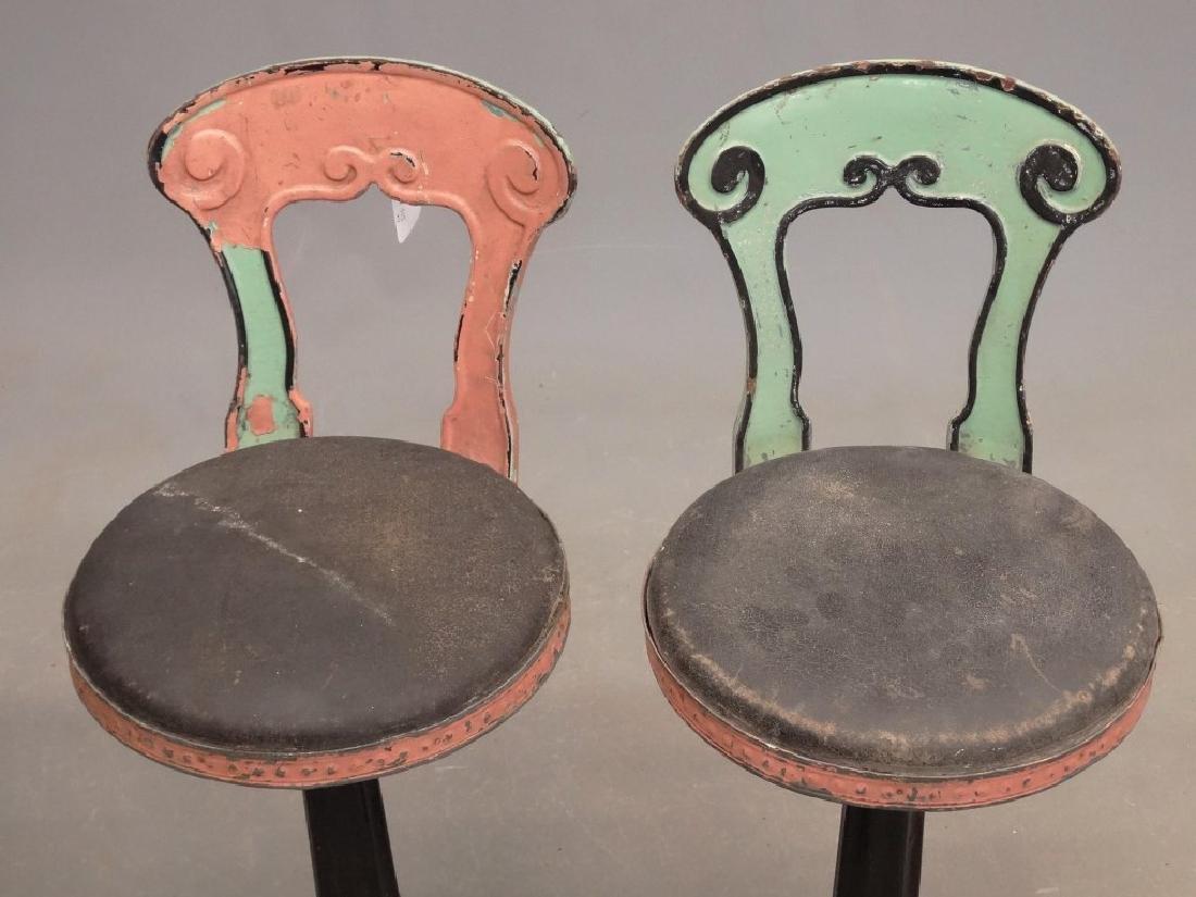 Vintage Parlor Stools - 4