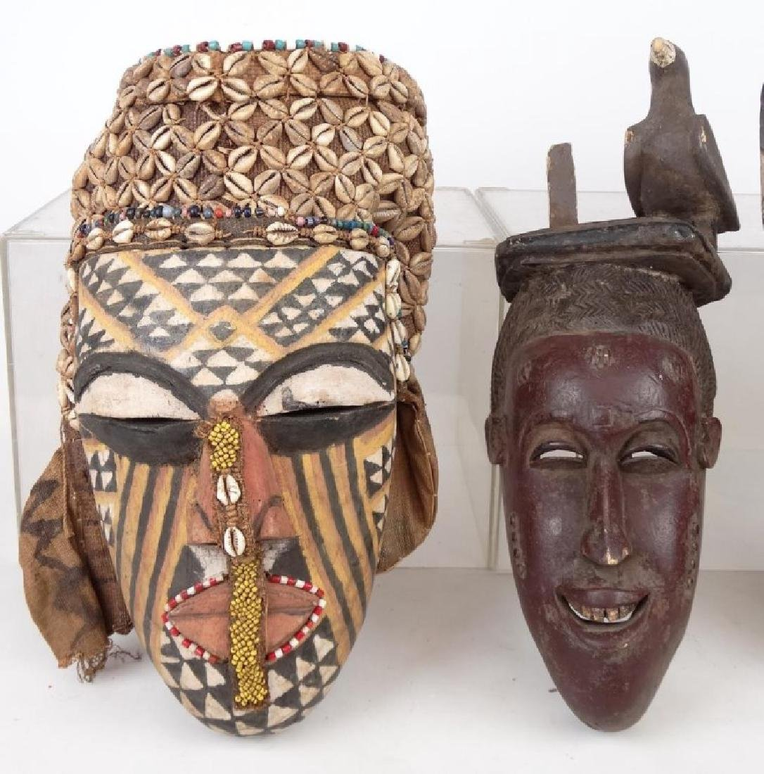 Carved African Masks - 2