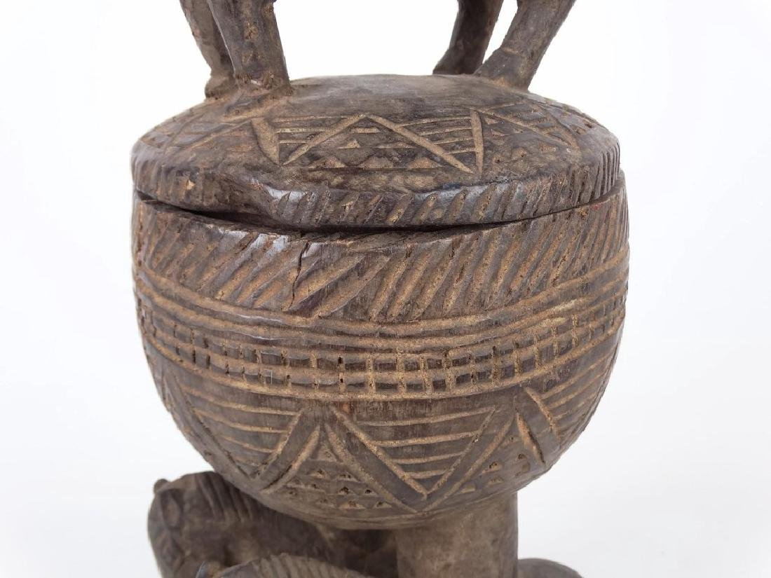 African Carved Vessel - 4