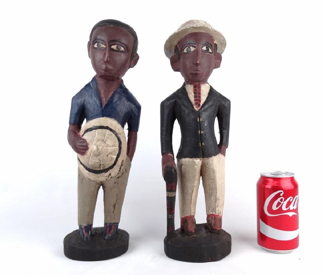 Pair African Carved Figures