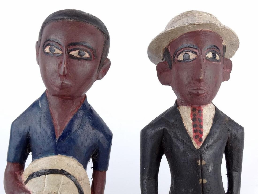 Pair African Carved Figures - 2