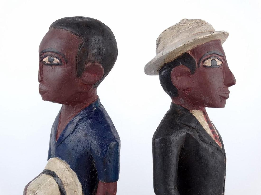 Pair African Carved Figures - 3