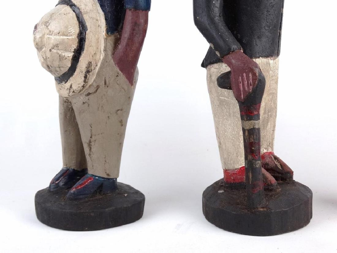 Pair African Carved Figures - 4