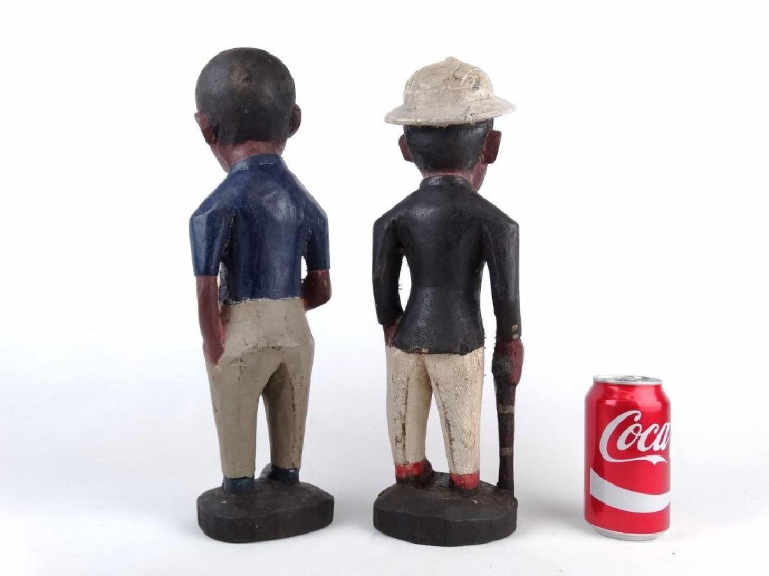 Pair African Carved Figures - 5