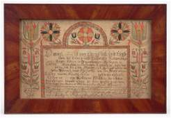 19th c. Pennsylvania Fraktur