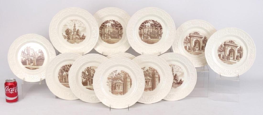 & Brown University College Plates