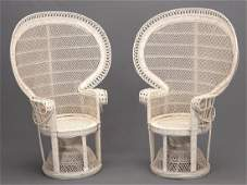 Pair Wicker Chairs