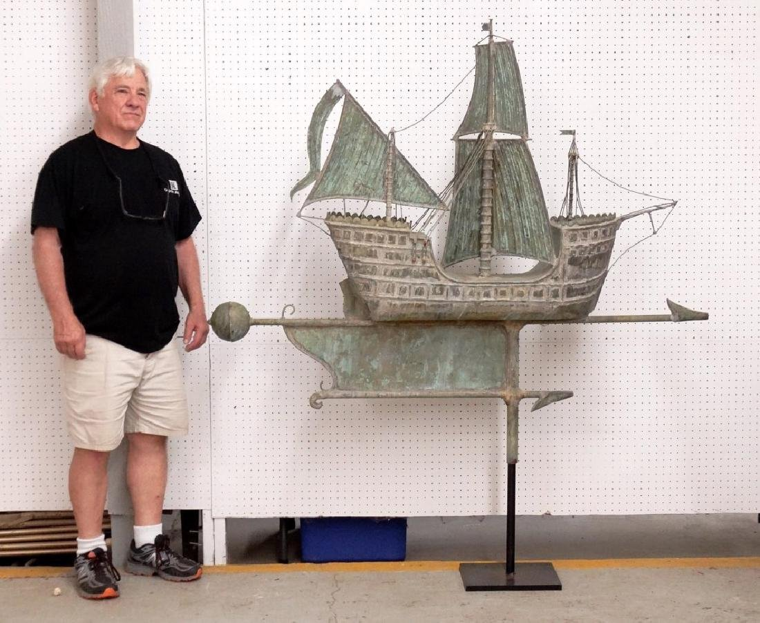 Monumental Galleon Ship Weathervane
