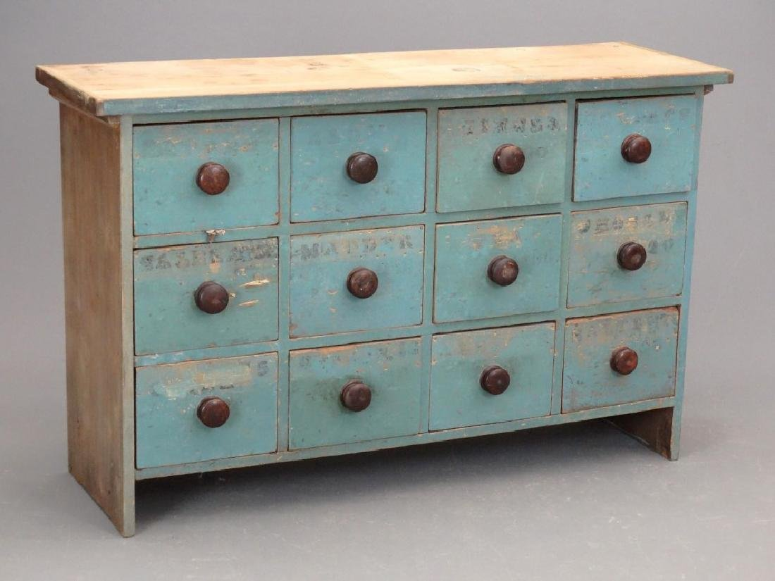 19th c. Apothecary Chest