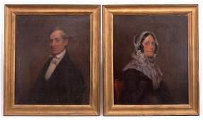 American School, Pair Of Portraits