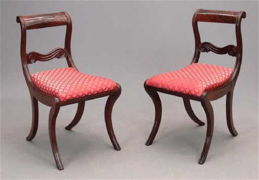 pair 19th c boston classical chairs