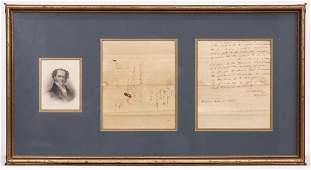 Martin Van Buren Signed Document