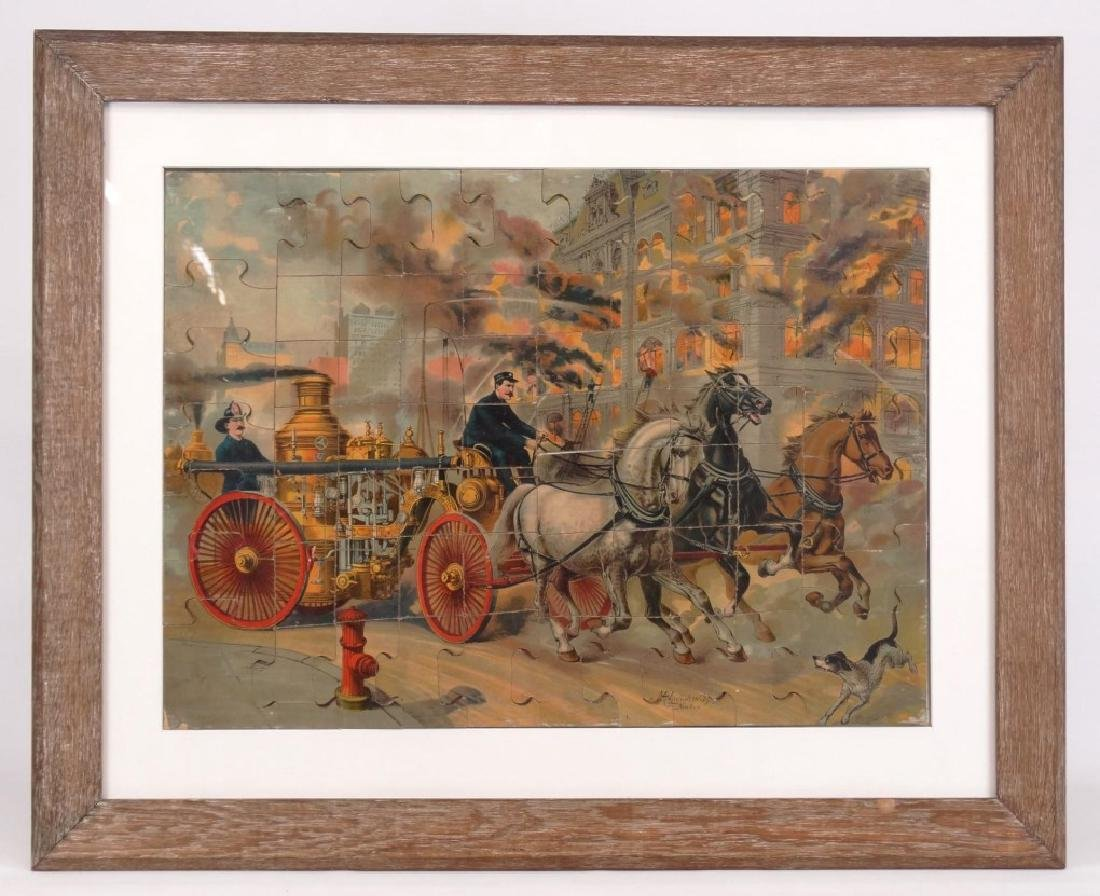 McLoughlin Brothers Framed Puzzle