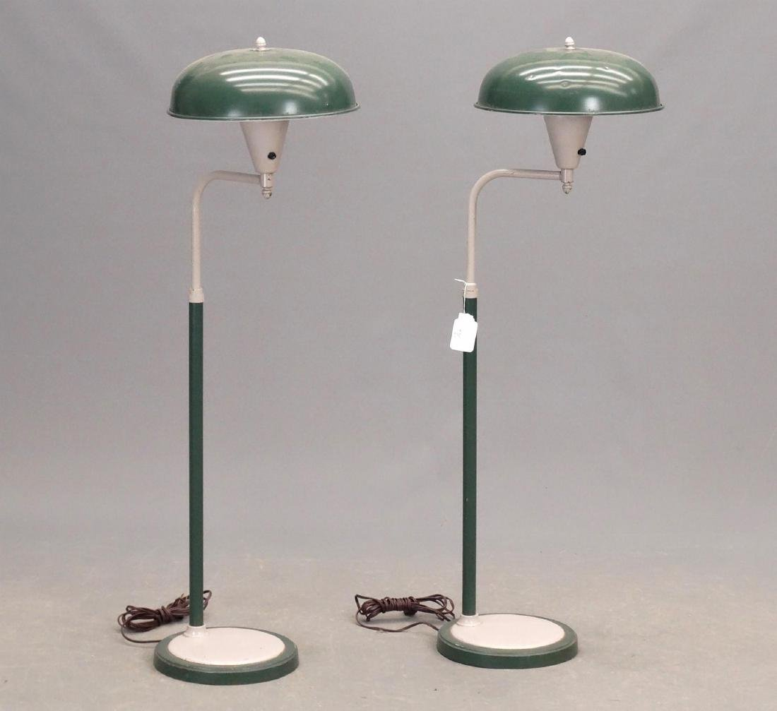 Pair Mid Century Floor Lamps