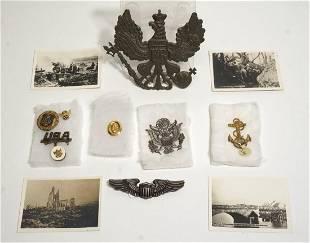 World War II Lot Pins Wings Photographs