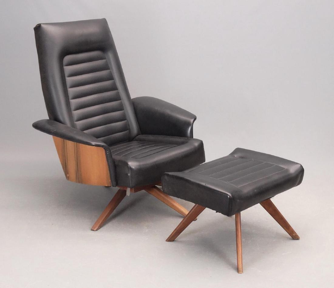 Mid Century Chair & Ottoman