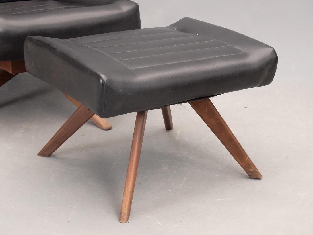 Mid Century Chair & Ottoman - 2
