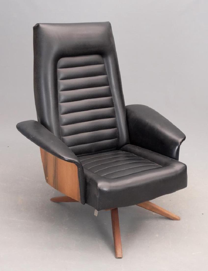 Mid Century Chair & Ottoman - 3