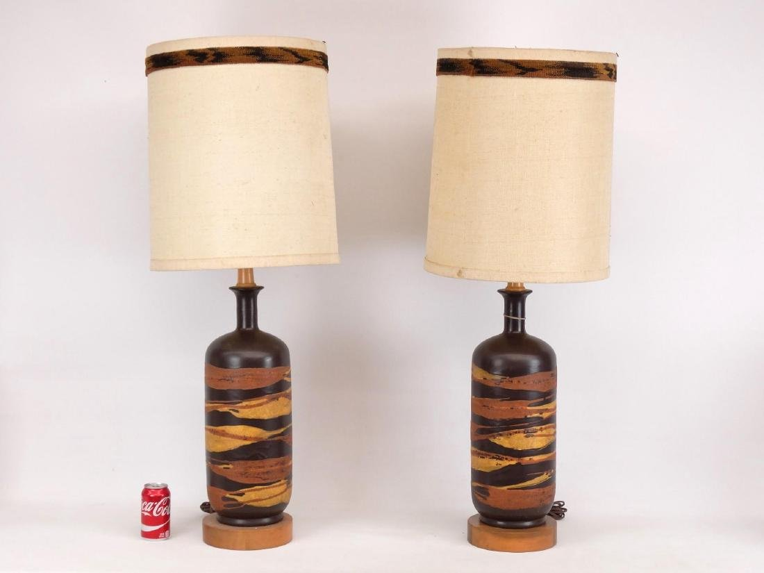 Pair Mid Century Royal Haeger Lamps