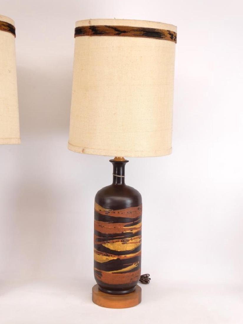Pair Mid Century Royal Haeger Lamps - 2