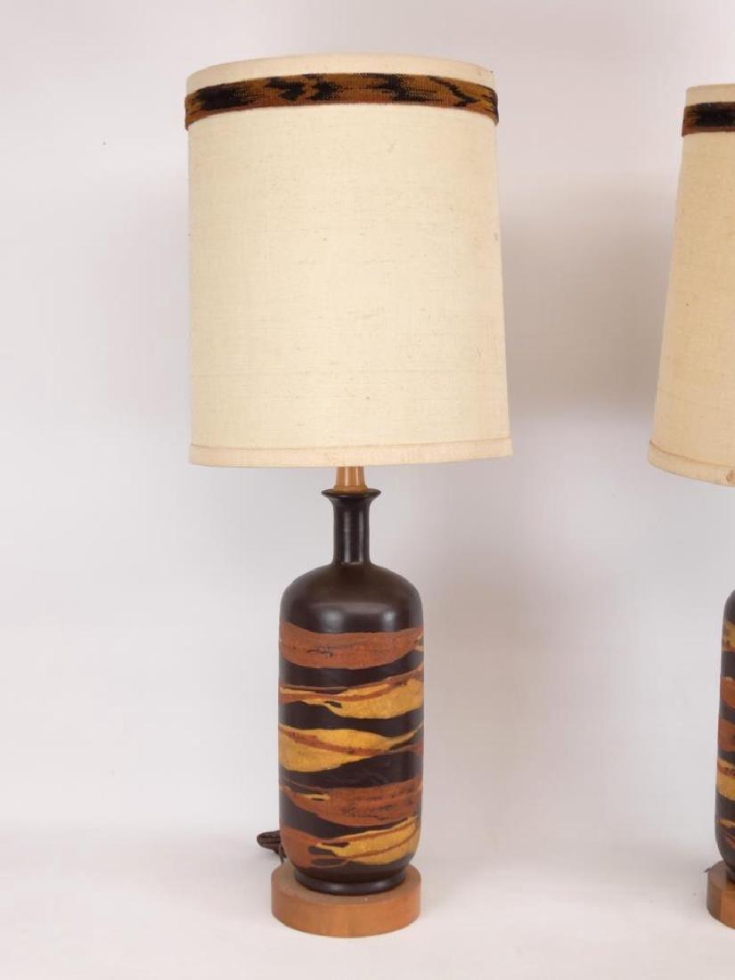 Pair Mid Century Royal Haeger Lamps - 3
