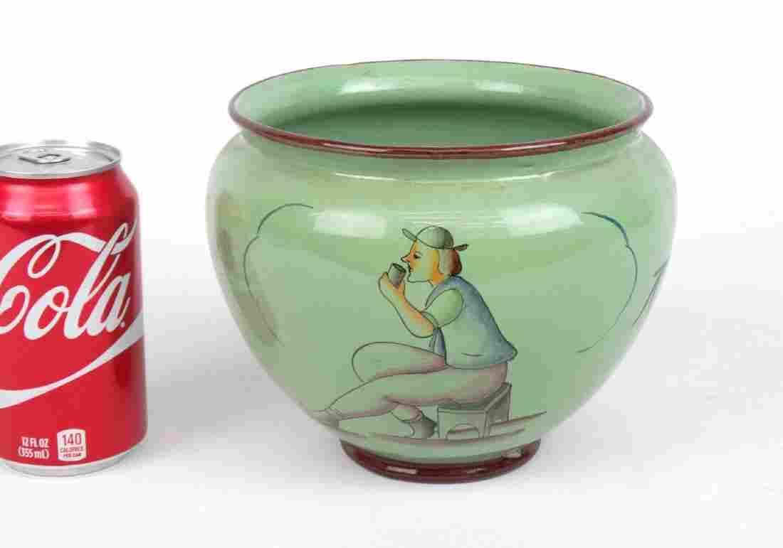 Gio Ponti Style Mid Century Porcelain Bowl