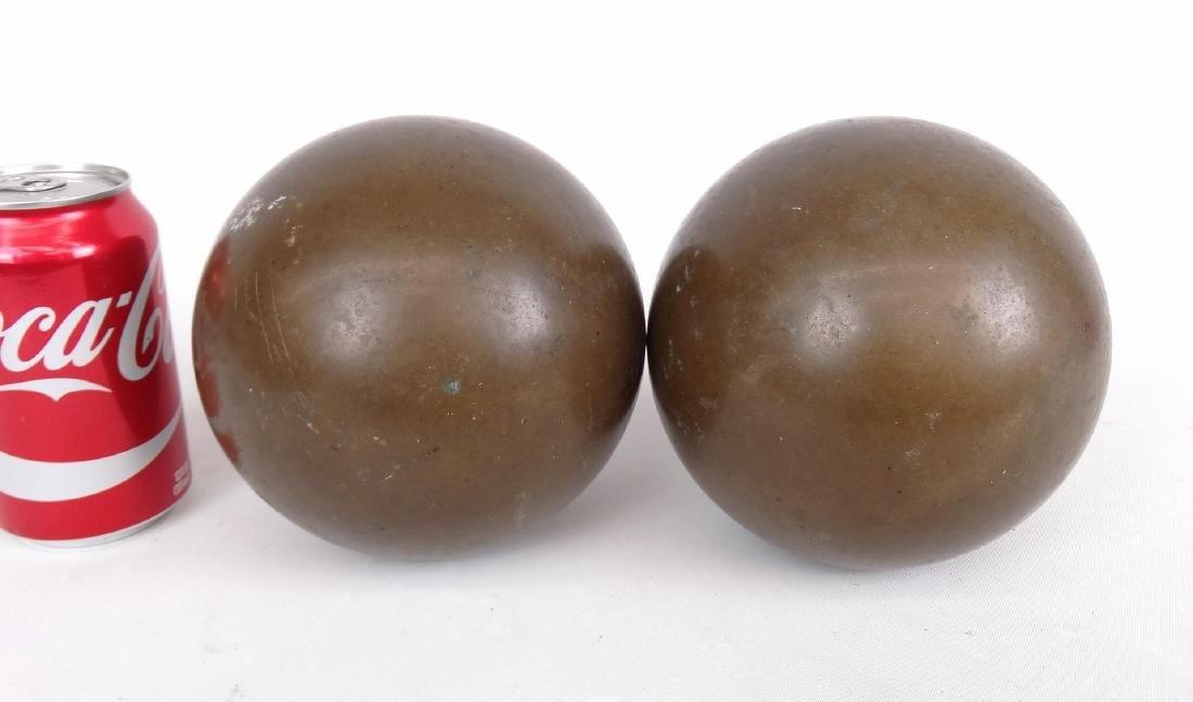 Pair Brass Balls