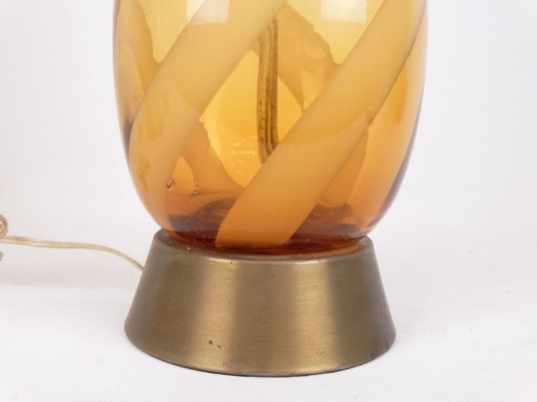 Murano Glass Mid Century Table Lamps - 3