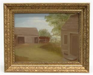 Jerome B Thompson 1814 1886 Farmyard Study