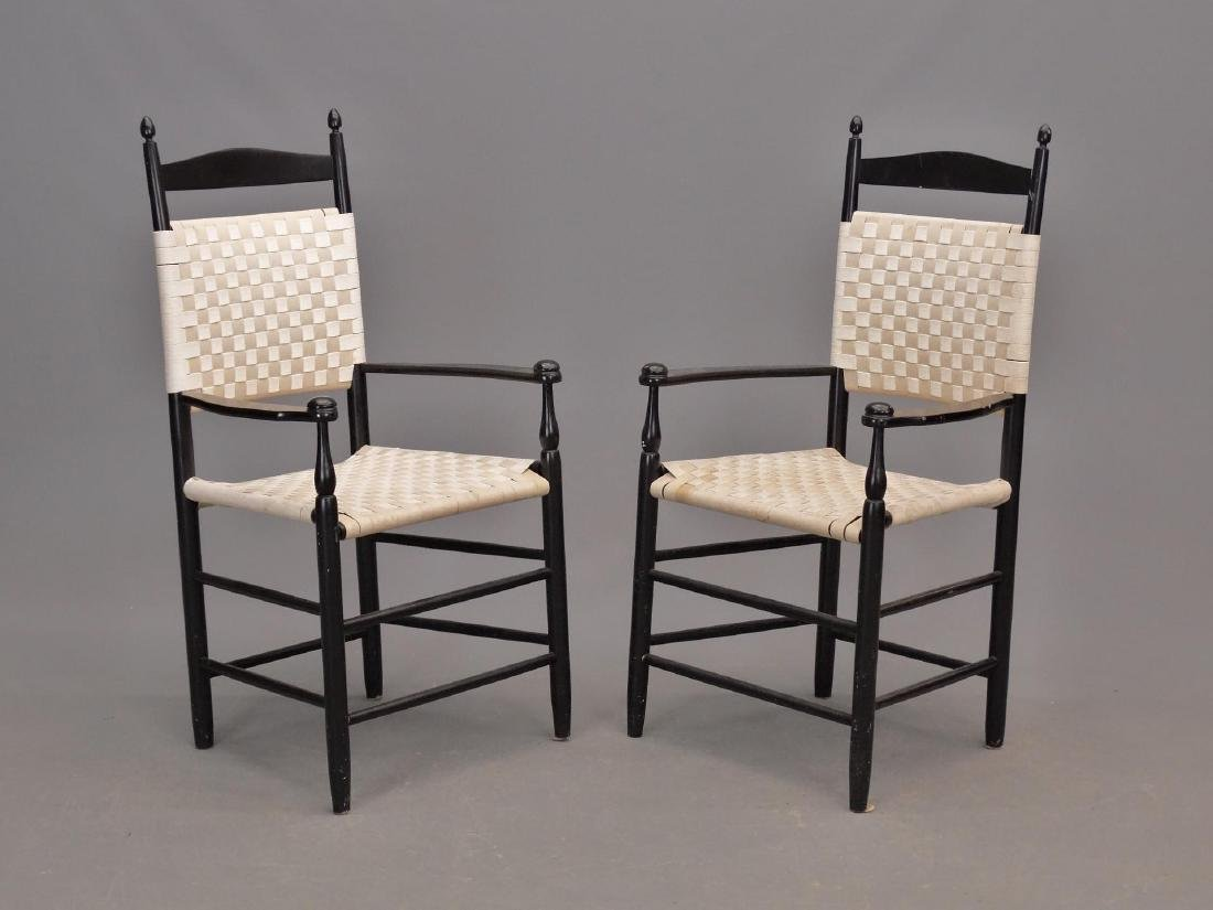 Pair Shaker Style Armchairs