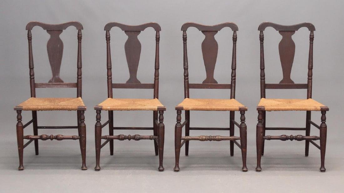 Set Of (4) Queen Anne Style Chairs