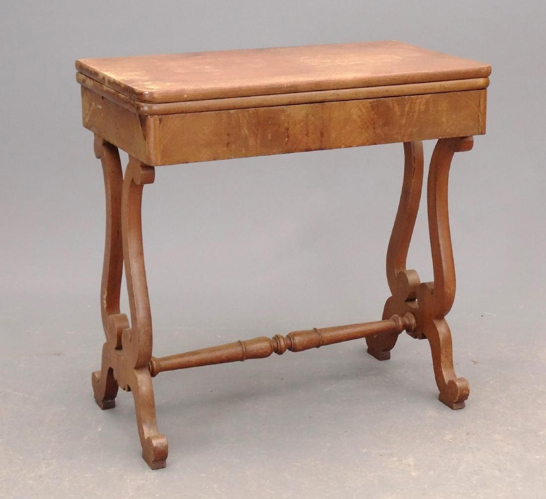 19th c. Empire Mahogany Card Table