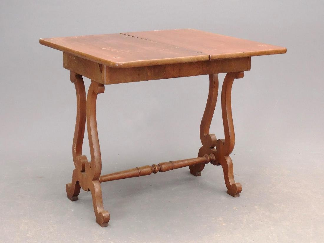 19th c. Empire Mahogany Card Table - 2