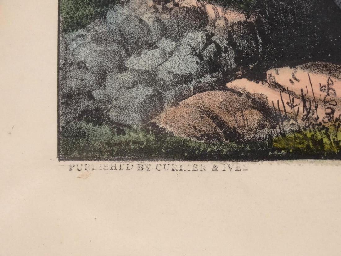 19th c. Currier & Ives Print - 4