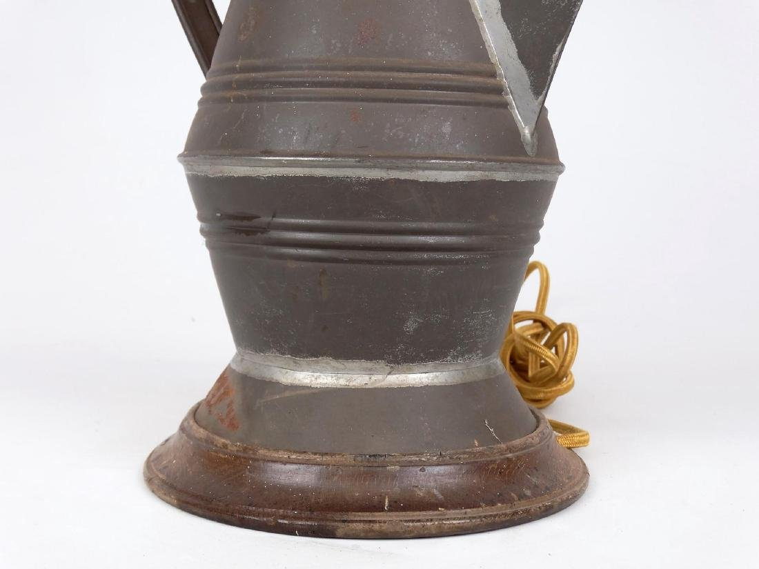 Early Tin Coffee Pot Lamp - 3