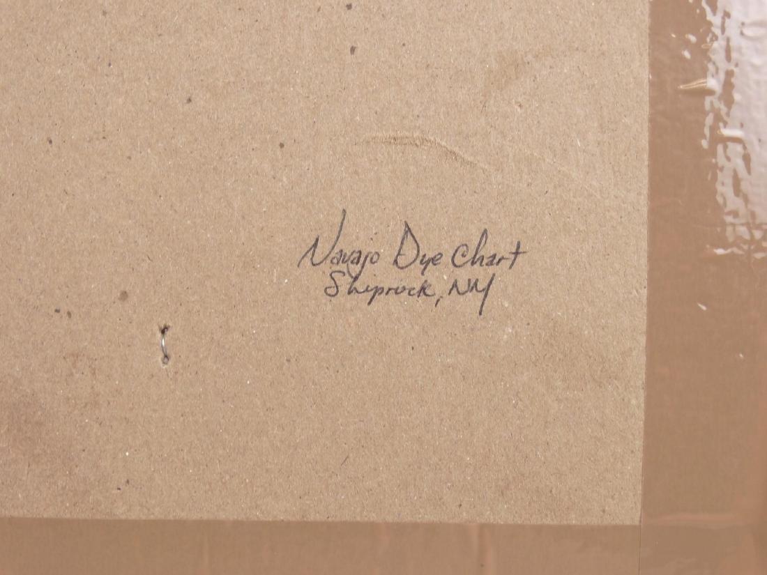 Vintage Navajo Dye Chart Shiprock New Mexico - 4