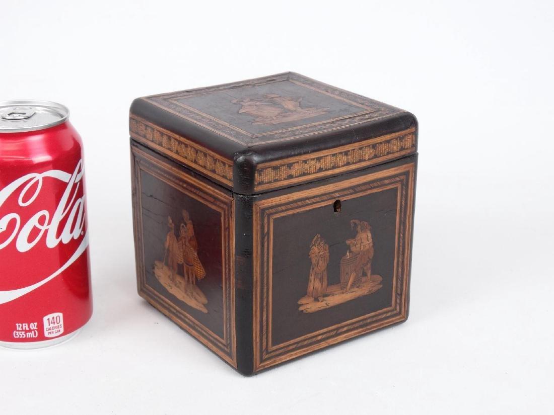 19th c. Inlaid Tea Caddy
