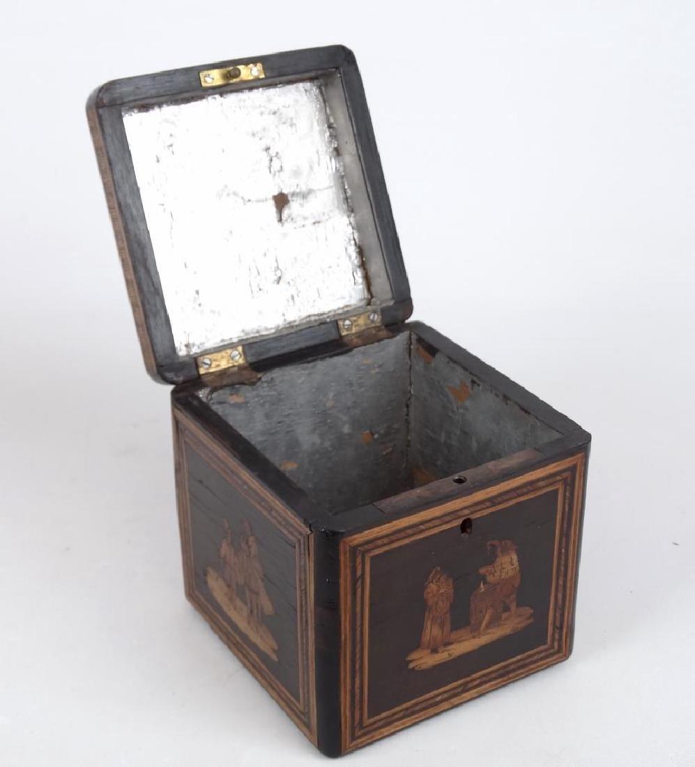 19th c. Inlaid Tea Caddy - 3