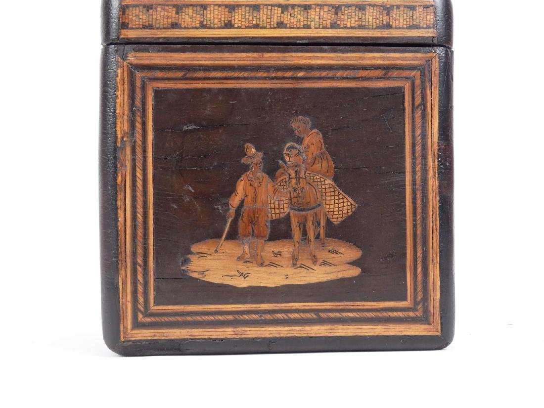 19th c. Inlaid Tea Caddy - 4