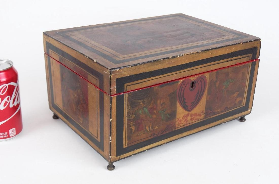 19th c. Paint Decorated Box