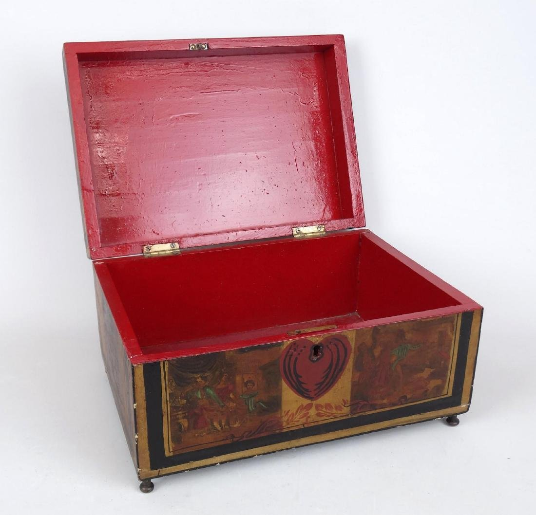 19th c. Paint Decorated Box - 3