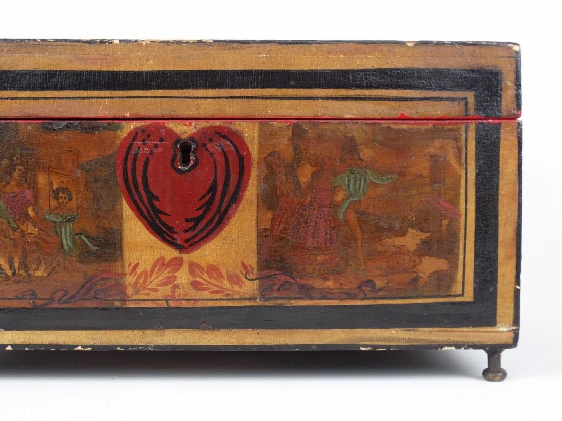 19th c. Paint Decorated Box - 4