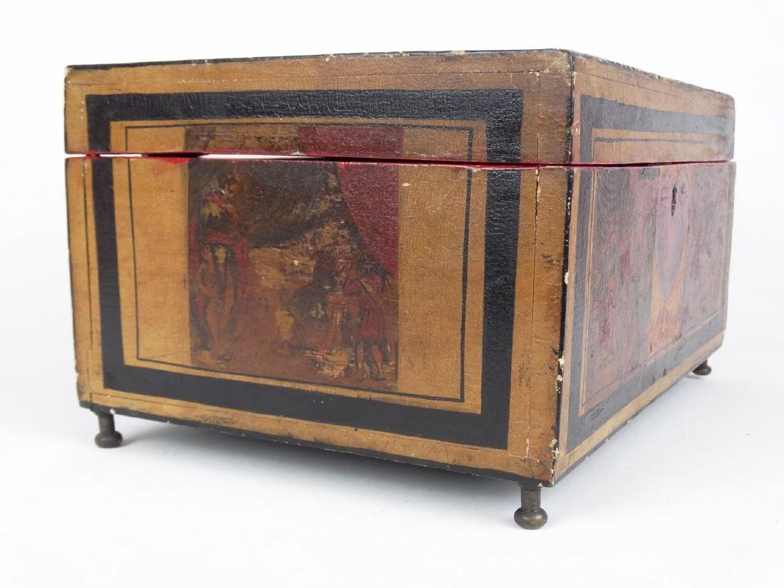 19th c. Paint Decorated Box - 5