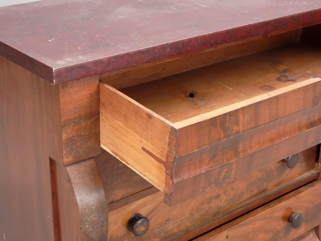 19th c. Empire Chest Of Drawers - 3