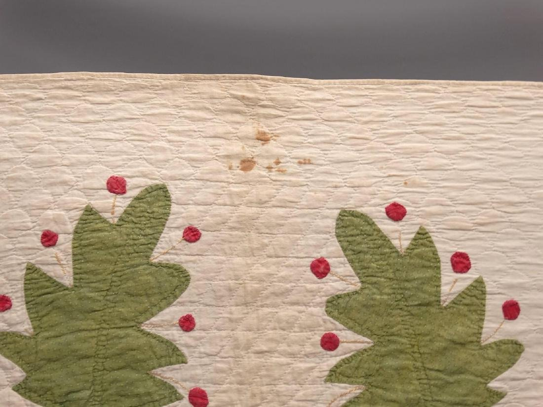 19th c. Floral Applique Quilt - 2
